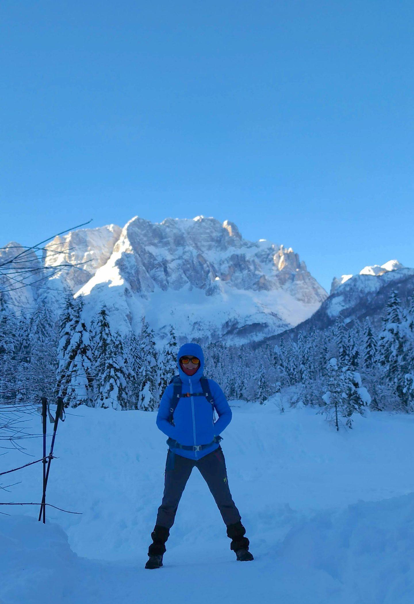 Trekking invernale in Val Saisera