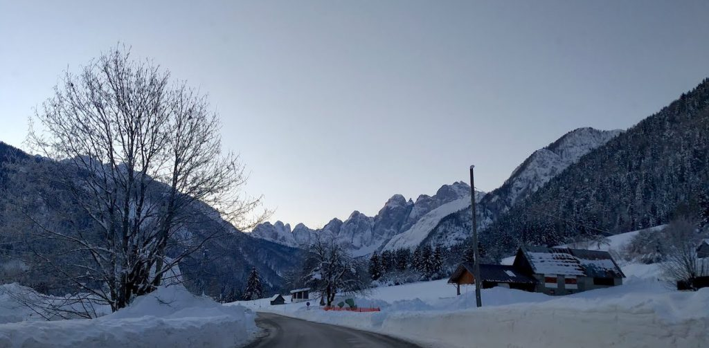 L'inizio della Val Saisera (loc. Malborghetto Valbruna)
