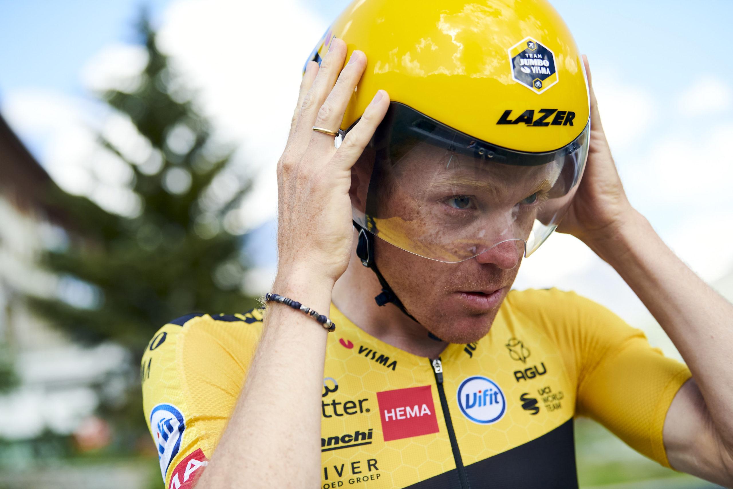 time trial helmet at the tour de france