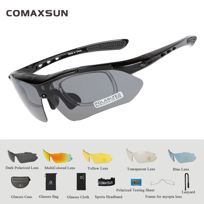 Comaxsun Professional Polarized Cycling Glasses Bike Goggles  Sports Bicycle Sun