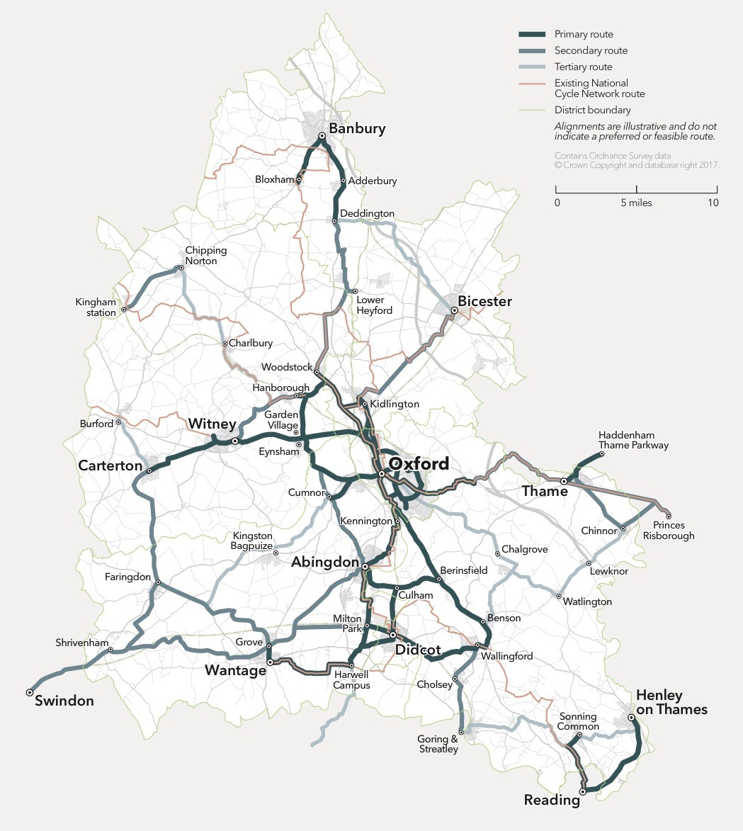 Strategic Cycle Network for Oxfordshire