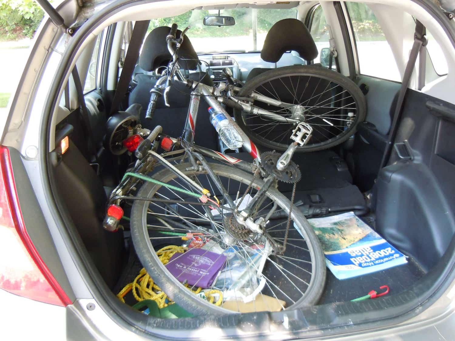 Transport Bike By Car - Bike in Boot of Hatchback