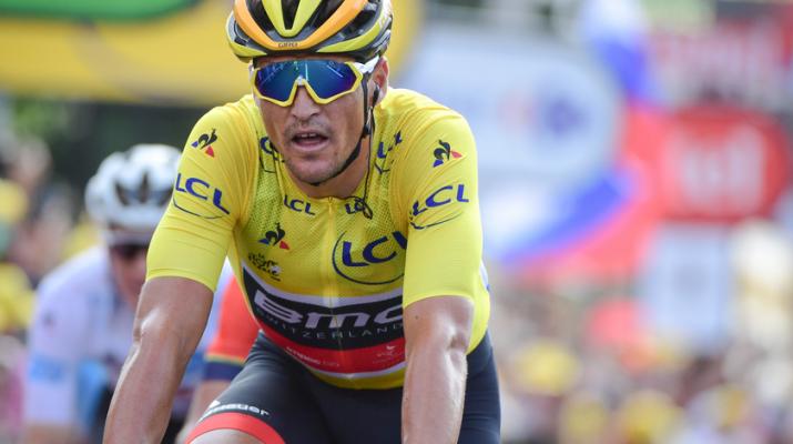 Greg Van Avermaet - Maillot jaune - Arrivée 6e étape Tour de France 2018