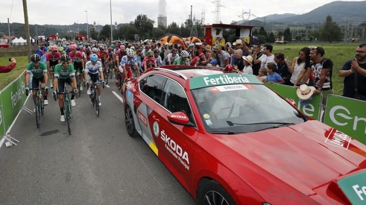 Départ - Peloton - 15e étape Tour d'Espagne 2018