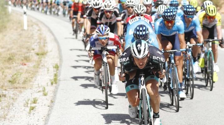 Peloton - Descente - 7e étape Tour d'Espagne 2018