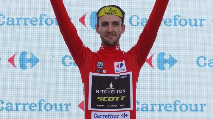 Simon Yates - Maillot rouge Podium - 9e étape Tour d'Espagne 2018