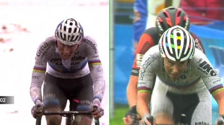 Montage - Cyclo-cross Niel 2018 - Mathieu Van der Poel et Sanne Cant
