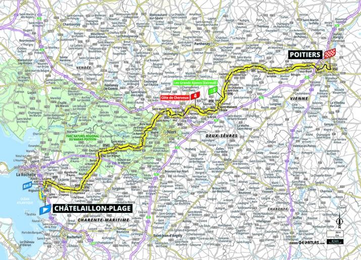Carte - 11e étape - Tour de France 2020 - ASO/Geoatlas