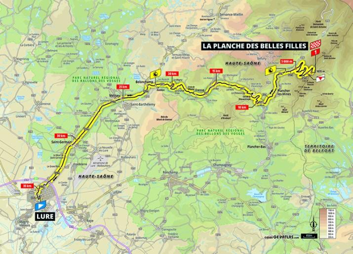 Carte - 20e étape - Tour de France 2020 - ASO/Geoatlas