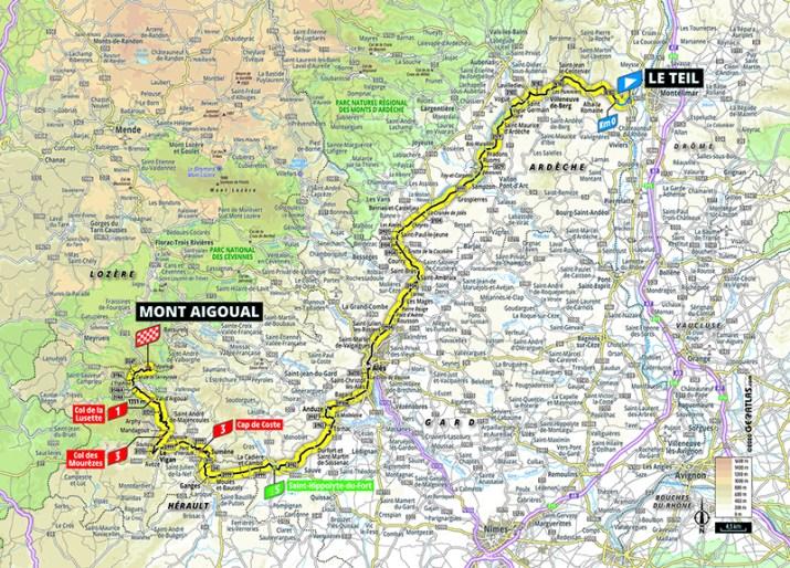 Carte - 6e étape - Tour de France 2020 - ASO/Geoatlas