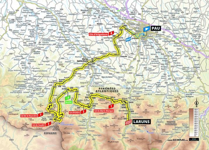 Carte - 9e étape - Tour de France 2020 - ASO/Geoatlas