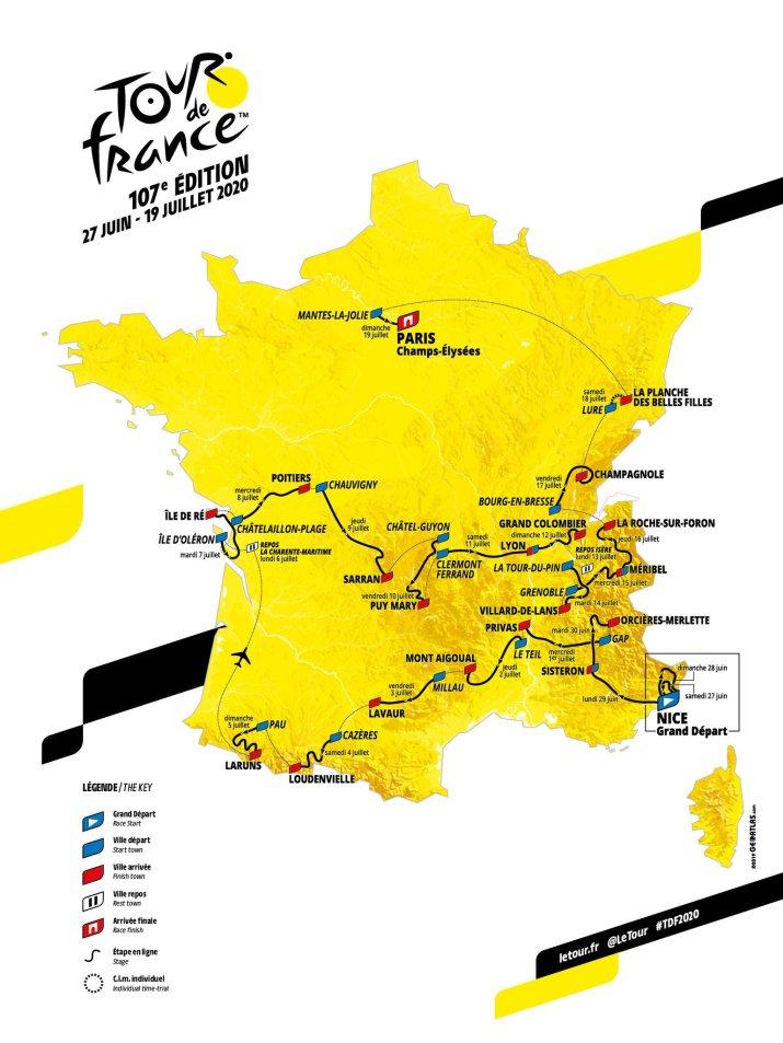 Carte - Tour de France 2020