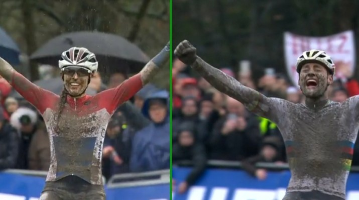 Lucinda Brand - Mathieu Van der Poel - Vainqueurs cyclo-cross Namur 2019