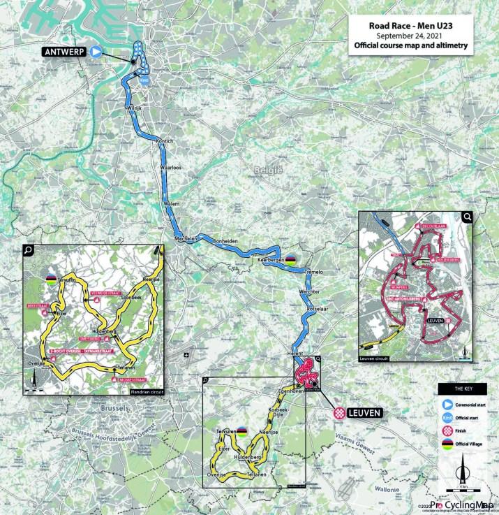 Championnats du monde sur route 2021 - Parcours Course en ligne espoirs