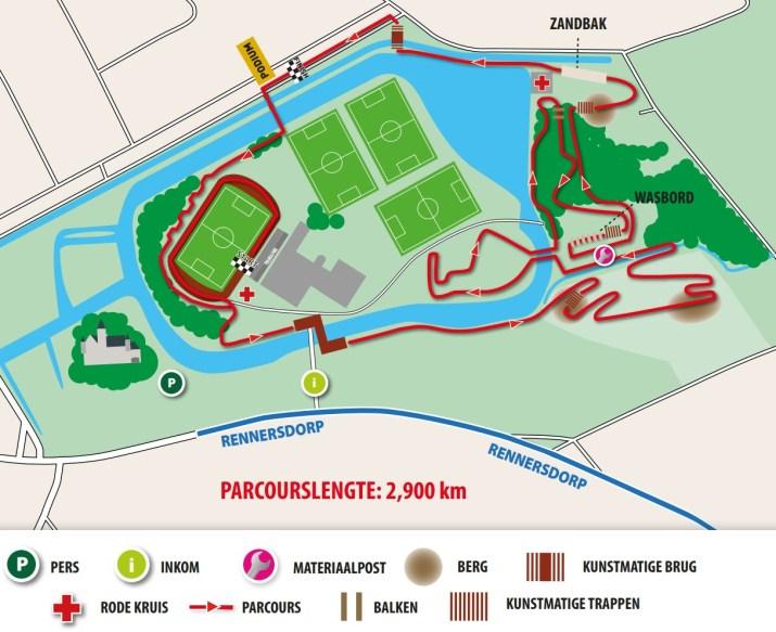 Championnat de Belgique de cyclo-cross Meulebeke 2021 - Parcours