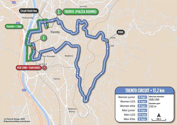 Course en ligne - Parcours - Championnats d'Europe Trentin 2021