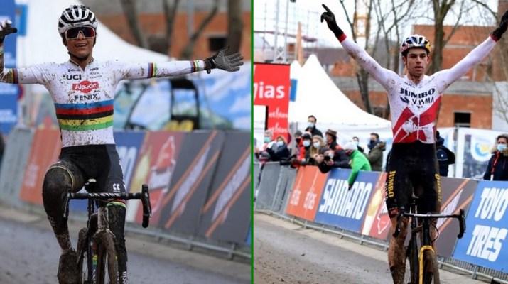 Montage Ceylin Del Carmen Alvarado Wout van Aert - Cyclo-cross Overijse 2021 - Alain Vandepontseele