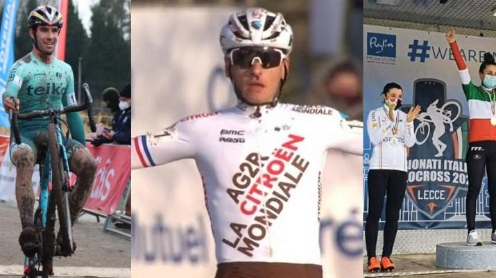 Montage - Champions nationaux de cyclo-cross 2021 - Felipe Orts Clément Venturini Alice Maria Arzuffi