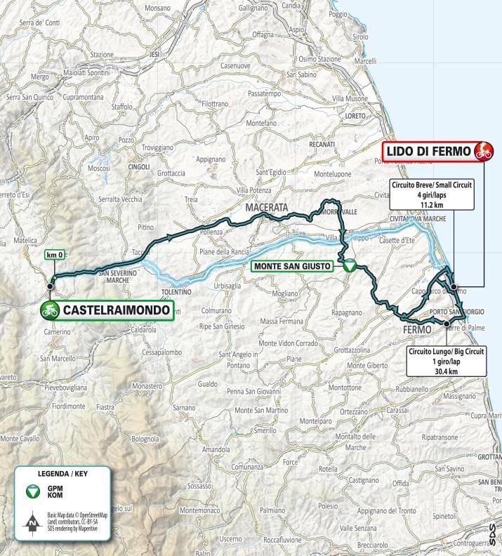 Carte - 6e étape - Tirreno-Adriatico 2021