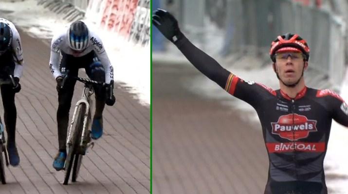 Montage - Ceylin Del Carmen Alvarado Laurens Sweeck - Vainqueurs cyclo-cross Lille 2021