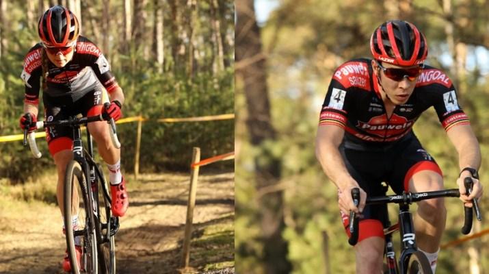 Montage Denise Betsema Laurens Sweeck - Cyclo-cross Oostmalle 2021 - ALain Vandepontseele