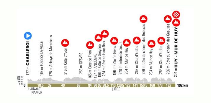 Profil - Flèche Wallonne Hommes 2021