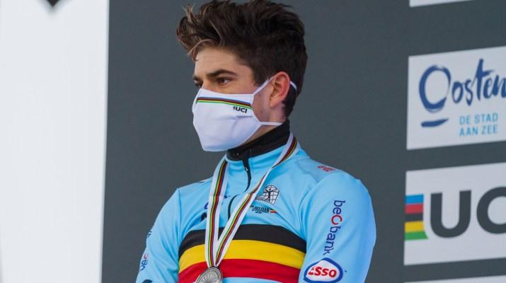 Wout van Aert Podium- Championnats du monde de cyclo-cross 2021 - Alain Vandepontseele