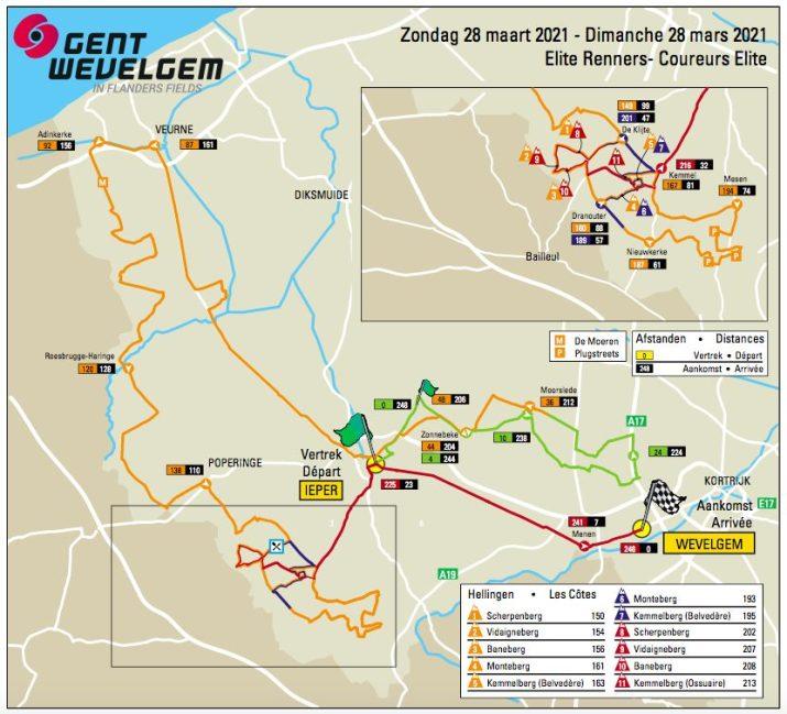 Gand-Wevelgem 2021 - Carte Hommes