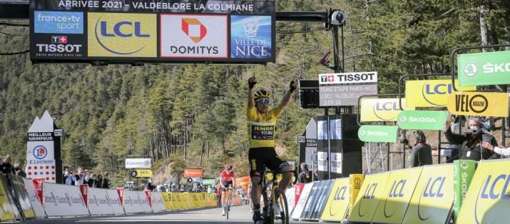 Primoz Roglic Vainqueur La Colmiane - 7e étape Paris-Nice 2021 - ASO Fabien Boukla
