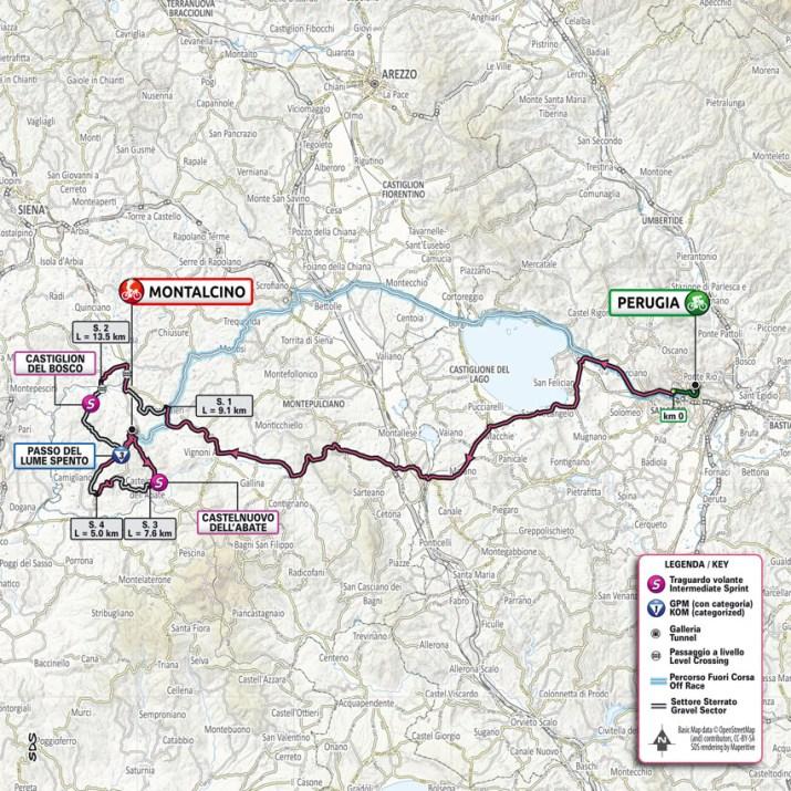 11e étape - Carte - Tour d'Italie Giro 2021