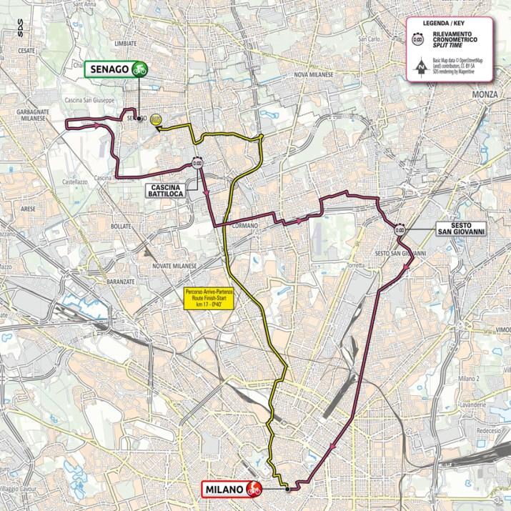 21e étape - Carte - Tour d'Italie Giro 2021