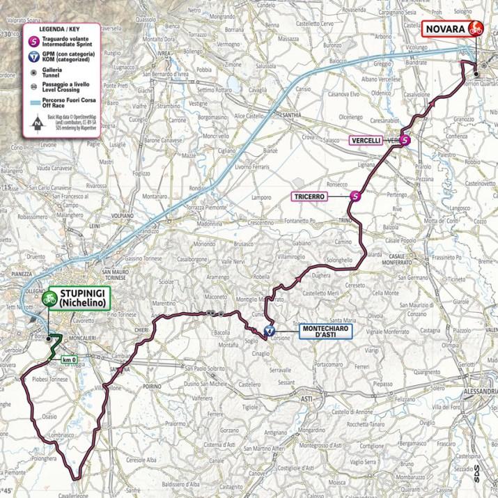 2e étape - Carte - Tour d'Italie Giro 2021