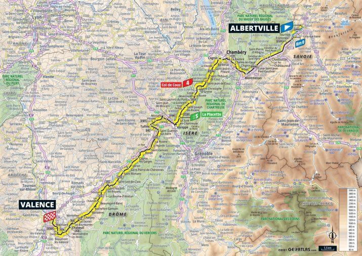 10e étape - Carte - Tour de France 2021