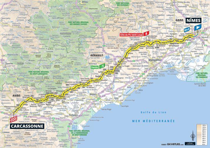 13e étape - Carte - Tour de France 2021