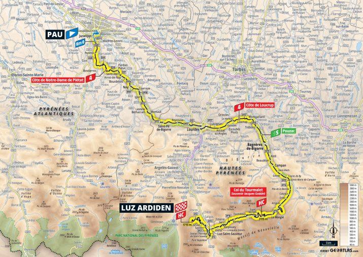 18e étape - Carte - Tour de France 2021