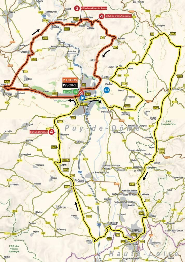 1re étape - Carte - Critérium du Dauphiné 2021