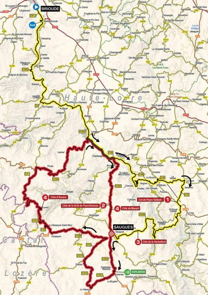 2e étape - Carte - Critérium du Dauphiné 2021