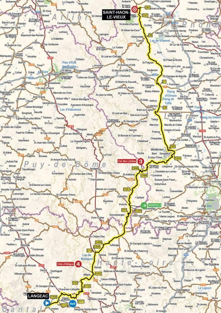 3e étape - Carte - Critérium du Dauphiné 2021