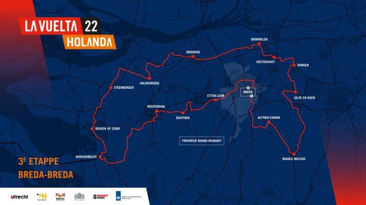 3e étape - Carte - Tour d'Espagne Vuelta 2022