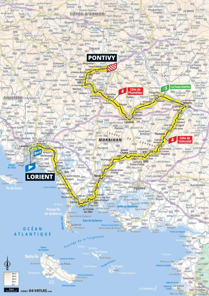 3e étape - Carte - Tour de France 2021