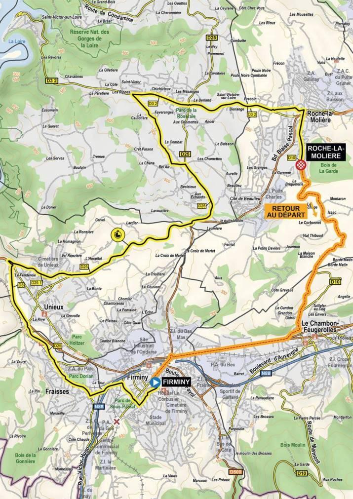 4e étape - Carte - Critérium du Dauphiné 2021