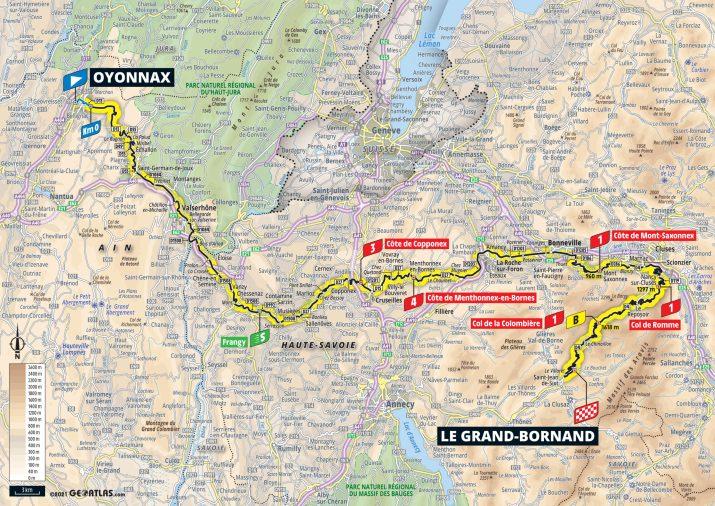 8e étape - Carte - Tour de France 2021