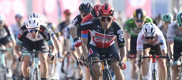 Caleb Ewan - Vainqueur 7e étape UAE Tour 2021 - RCS Sport La Presse Fabio Ferrari