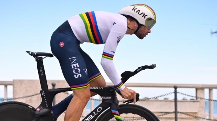 Filippo Ganna Champion du monde contre-la-montre - INEOS Grenadiers Tirreno-Adriatico 2021 - RCS Sport La Presse Marco Alpozzi