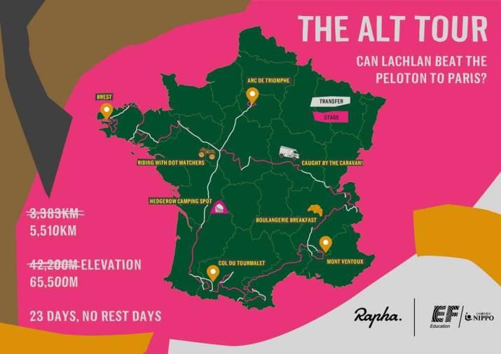 Carte - The Alt Tour - EF Education-Nippo