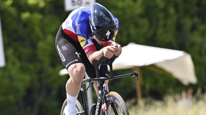 Rémi Cavagna Champion de France Contre-la-montre Deceuninck-Quick Step - 21e étaoe Giro Tour d'Italie 2021 - RCS Sport La Presse Fabio Ferrari