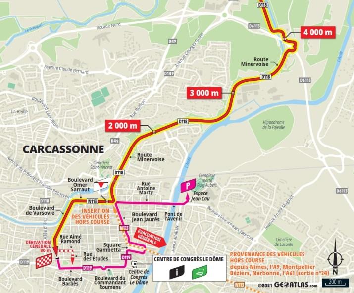 13e étape - Carte du final - Tour de France 2021