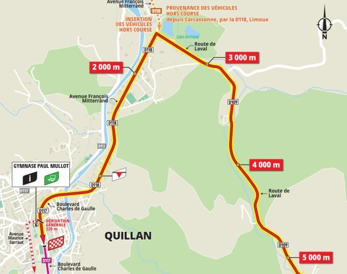 14e étape - Carte du final - Tour de France 2021
