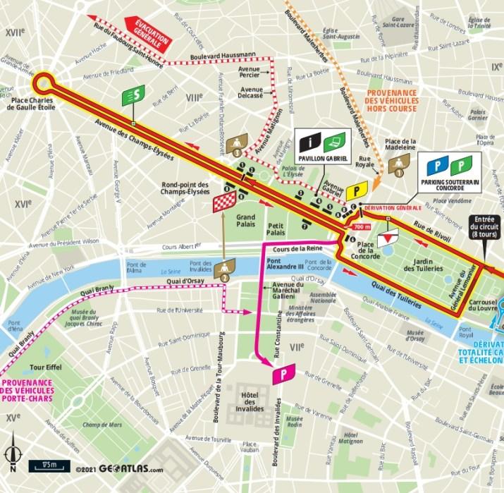 21e étape - Carte du final - Tour de France 2021