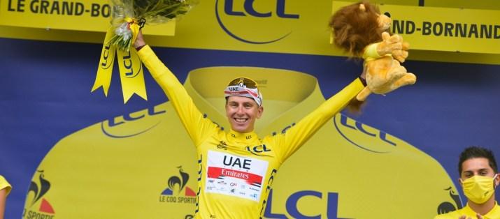 Tadej Pogacar Maillot jaune - Podium 8e étape Tour de France 2021 - ASO Charly Lopez